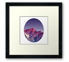 Pink & Purple Framed Print