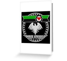 House Atreides Crest (Dark) Greeting Card