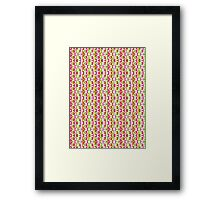 Bright & Colorful Abstract Flowers Pattern Design Framed Print