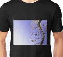 Lavender Gold Black Swirl Unisex T-Shirt