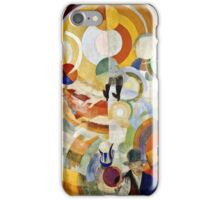 Robert Delaunay - Carousel With Pigs (Or Electric Carousel)  iPhone Case/Skin