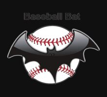 Baseball Bat Flying Bat Kids Tee