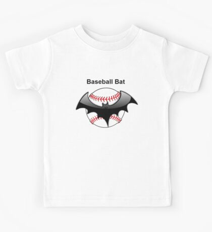 Baseball Bat Flying Bat Kids Tee