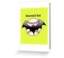 Baseball Bat Flying Bat Greeting Card