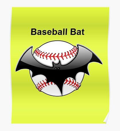 Baseball Bat Flying Bat Poster