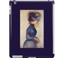Renoir Auguste - Young Woman In Bright Blue At The Conservatory 1877 iPad Case/Skin