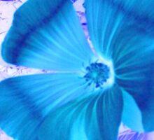 Cerulean Bloom Sticker