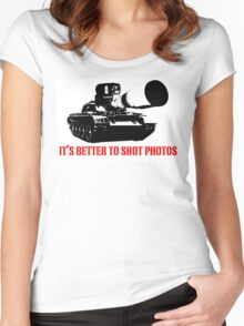 canon cannon better to shot photos Women's Fitted Scoop T-Shirt