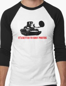 canon cannon better to shot photos Men's Baseball ¾ T-Shirt