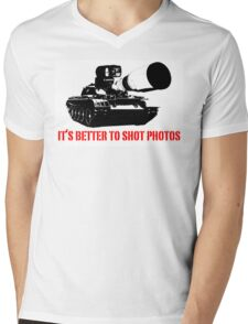 canon cannon better to shot photos Mens V-Neck T-Shirt