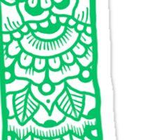 zentangle l: mint  Sticker