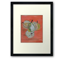 Apples Framed Print