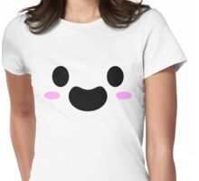 Happy Blush Anime Face Womens Fitted T-Shirt