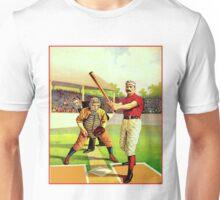 BASEBALL; Vintage Ballgame Batter at The Plate Unisex T-Shirt