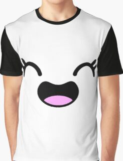 Happy Girl Anime Face Graphic T-Shirt