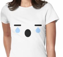 Crying Anime Face Womens Fitted T-Shirt