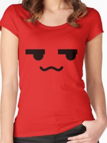 Squiggly Anime Face Women's Fitted Scoop T-Shirt