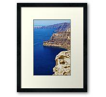 Santorini Coastline Framed Print