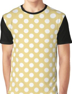 Polka dot on yellow background Graphic T-Shirt