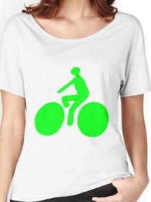Green bike Women's Relaxed Fit T-Shirt