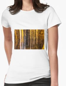 dark forest  Womens Fitted T-Shirt
