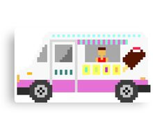 Ice Cream Truck - The Kids' Picture Show - 8-Bit Canvas Print