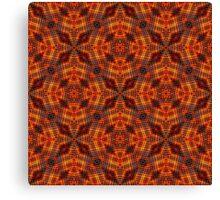 Futuristic Seamless Geometric Pattern Canvas Print