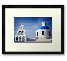 Church in Santorini Framed Print