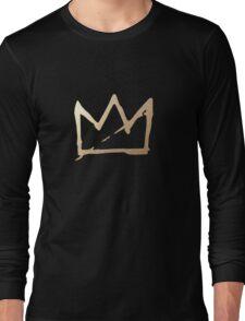 Gold Basquiat Crown Long Sleeve T-Shirt