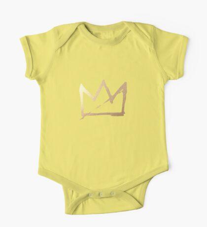 Gold Basquiat Crown One Piece - Short Sleeve