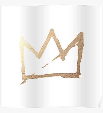 Gold Basquiat Crown Poster
