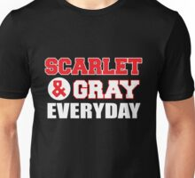 Scarlet and Gray everyday Unisex T-Shirt