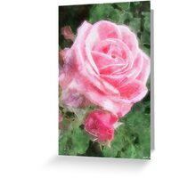 Pink Roses in Anzures 2 Watercolor Greeting Card