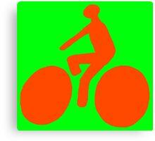 Orange bike Canvas Print