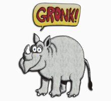 Rhinoceros: Gronk! Kids Tee