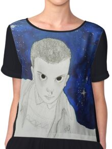 Eleven - Stranger Things - Outer Space  Chiffon Top