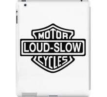 Loud and Slow Motor Cycles iPad Case/Skin