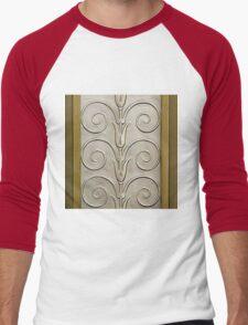 Art deco,vintage,1920 era,the Great Gatsby,elegant,chic,gold,silver,bronze,pattern,trendy,modern,floral Men's Baseball ¾ T-Shirt