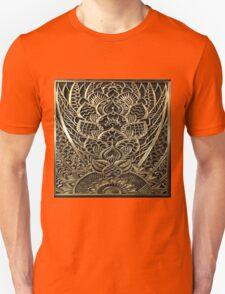Art deco,vintage,1920 era,the Great Gatsby,elegant,chic,gold,silver,bronze,pattern,trendy,modern,floral Unisex T-Shirt