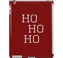 Christmas, Santa quote, Ho Ho Ho Modern Art iPad Case/Skin