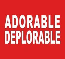 ADORABLE DEPLORABLE Baby Tee