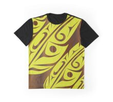 Four Feathers Lime on Walnut Graphic T-Shirt