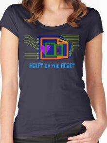 The Heart of the Robot Women's Fitted Scoop T-Shirt