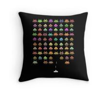 Fashionable Invaders Throw Pillow