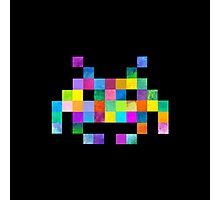 Cubist Invader Photographic Print