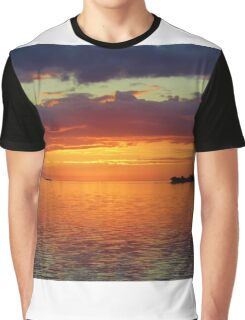 Colorful Sunset Sky Graphic T-Shirt