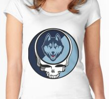 The Dead and the Huskies Women's Fitted Scoop T-Shirt