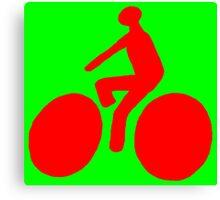 Red bike Canvas Print