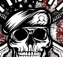 Military Skull Art Soldier Worthy Goals Glorious USA American Flag Army Marines USMC Navy Sailor Coast Guard Air Force Special Forces National Guard War Veteran Guns Rifle Vintage Grunge Sticker
