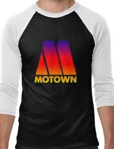MOTOWN DISCO RECORDS (SUNSET) Men's Baseball ¾ T-Shirt